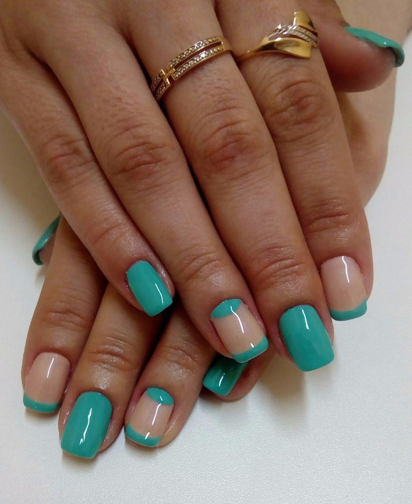 Красивые ногти шеллак френч фото